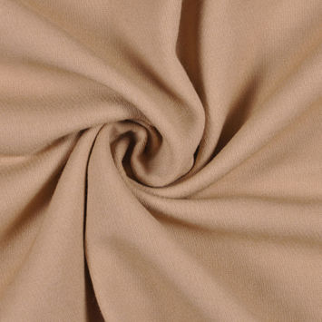 Beige Solid Suiting
