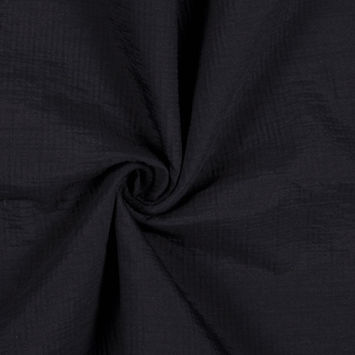 Black Crinkled Double Face