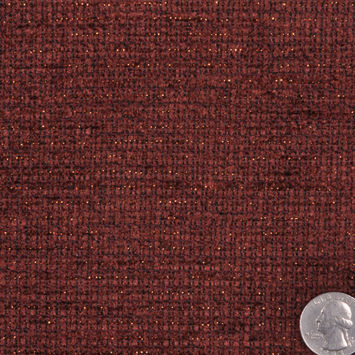 Red Brown/Gold Solid Chenille