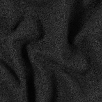 Black Cotton and Rayon Intimation Boucle