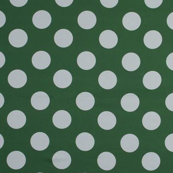 Mood Exclusive Green Mahina Dots Stretch Cotton Sateen
