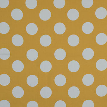 Mood Exclusive Yellow Mahina Dots Stretch Cotton Sateen