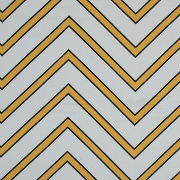 Mood Exclusive Yellow Hele Zig-Zag Stretch Cotton Sateen
