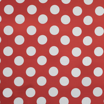 Mood Exclusive Red Mahina Dots Stretch Cotton Sateen