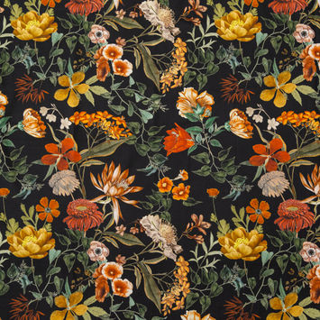 Mood Exclusive Garden of Earthly Delights Black Cotton Voile