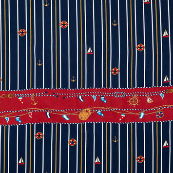 Mood Exclusive Sailboat Treasures Stretch Polyester Crepe
