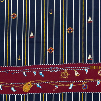 Mood Exclusive Sailboat Treasures Stretch Cotton Sateen
