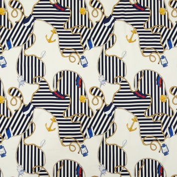 Mood Exclusive Maritime Adornments Stretch Cotton Sateen