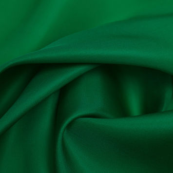 Kelly Green Silk Satin Face Organza