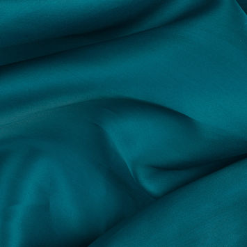 Deep Teal Silk Satin Face Organza