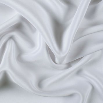 Bright White Silk 4-Ply Crepe