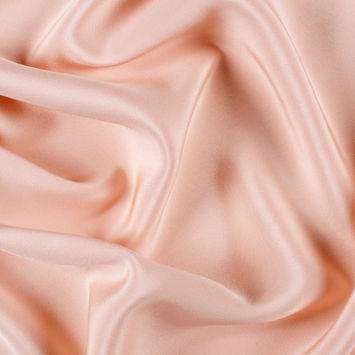 Pale Blush Silk 4-Ply Crepe