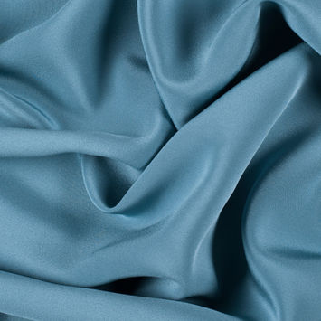 Colonial Blue Silk 4-Ply Crepe