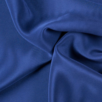 Estate Blue Silk 4-Ply Crepe