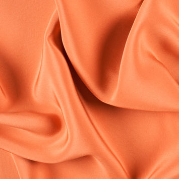 Burnt Orange Silk 4-Ply Crepe