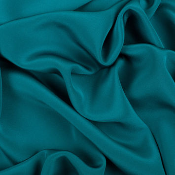 Deep Teal Silk 4-Ply Crepe