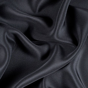 Black Silk Wide 4-Ply Crepe