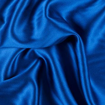 Mazarine Blue Silk Crepe Back Satin