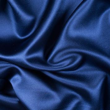 Estate Blue Silk Crepe Back Satin