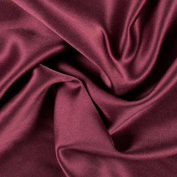 Wine Silk Crepe Back Satin