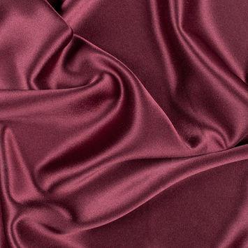 Maroon Silk Crepe Back Satin