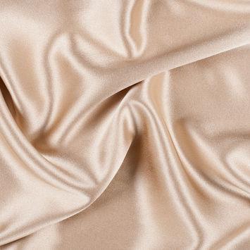 Latte Silk Crepe Back Satin