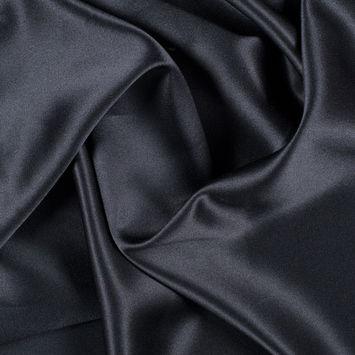 Black Silk Crepe Back Satin