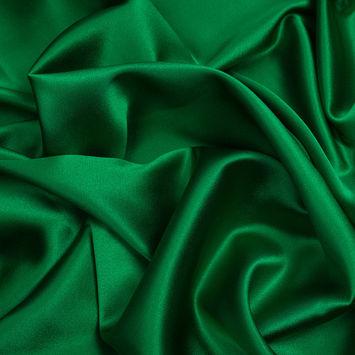 Kelly Green Silk Crepe Back Satin