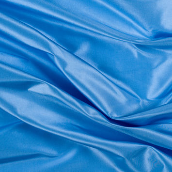 Bright Baby Blue Silk Taffeta