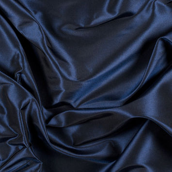Navy Silk Taffeta