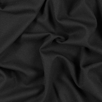 Black Single Wool Crepe