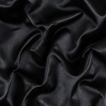 Black Silk and Cotton Dual Satin