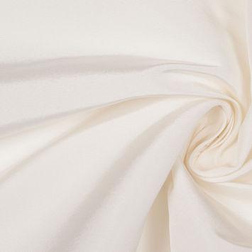 White Solid Silk Faille