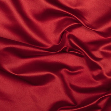 Red Silk Duchesse Satin
