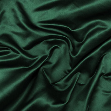 Hunter Green Silk Duchesse Satin