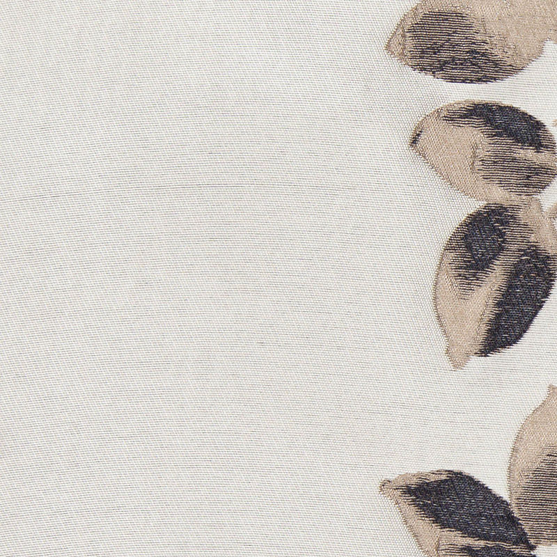 Black and Beige Columns of Leaves Brocade - Detail
