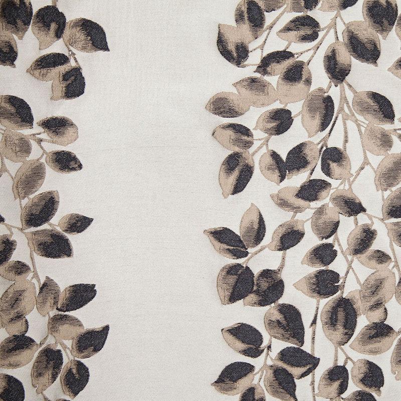 Black and Beige Columns of Leaves Brocade