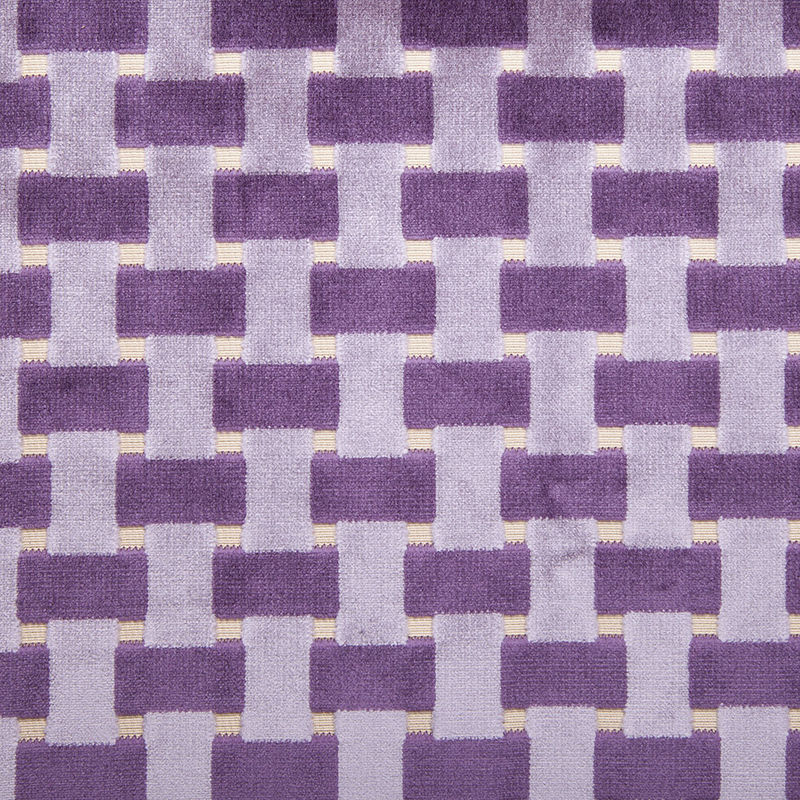 More Views Violet Lattice Work Cut Velvet Home Decor Fabric