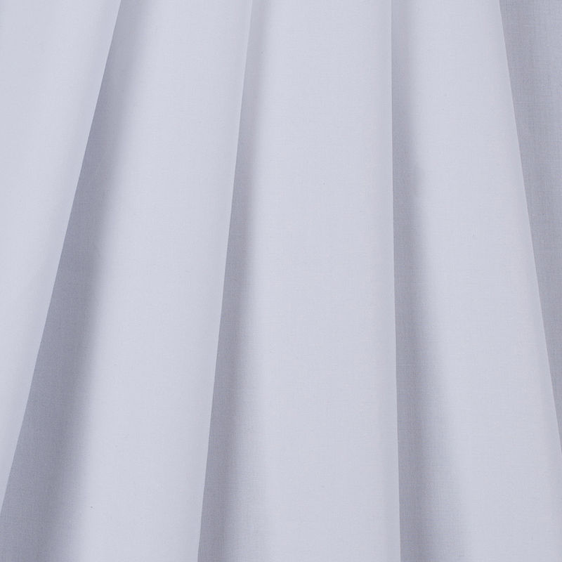 American Made White Cotton Shirting - Folded