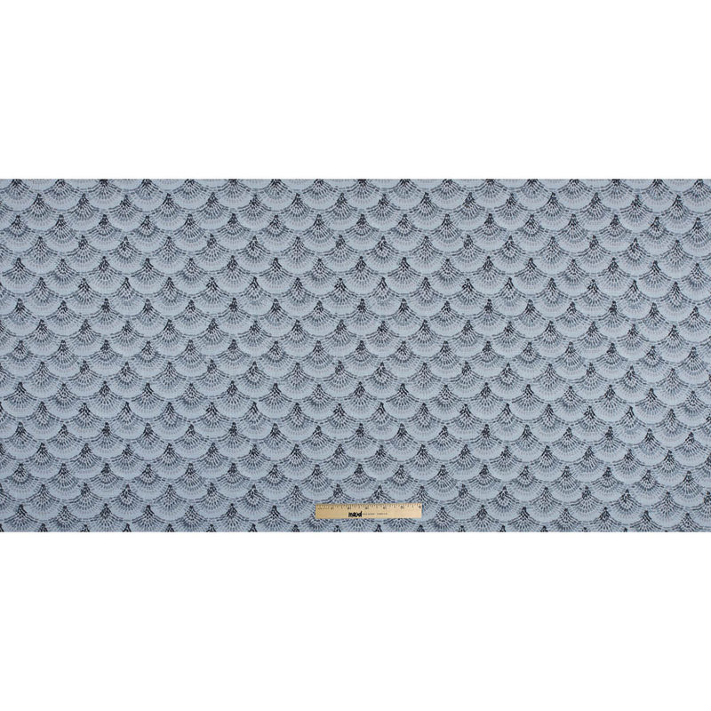 Spanish Charcoal and Blue Geometric Poly/Cotton Canvas - Full