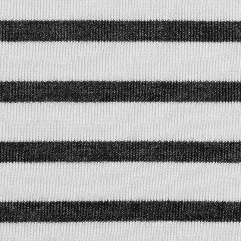 Ecru/Gray Saint James Striped Ponte Knit - Detail