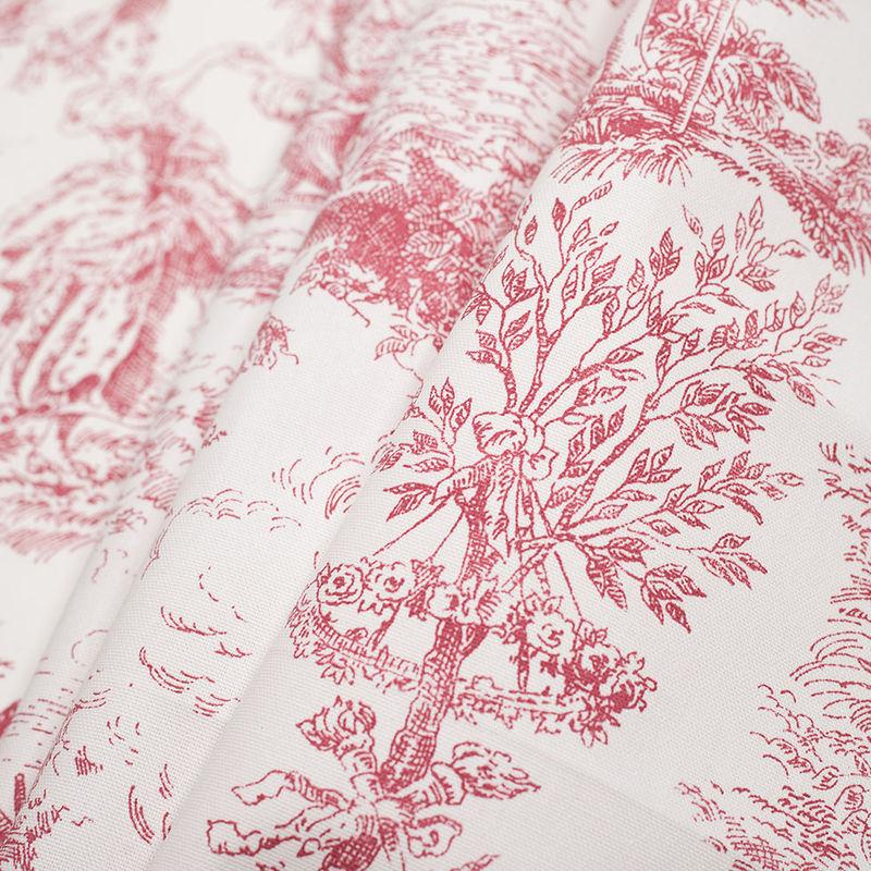 English Rose Cotton Toile - Folded