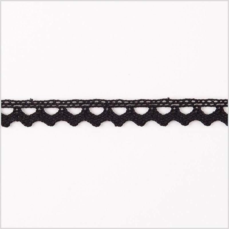 0.25 European Black Cotton Lace Trimming