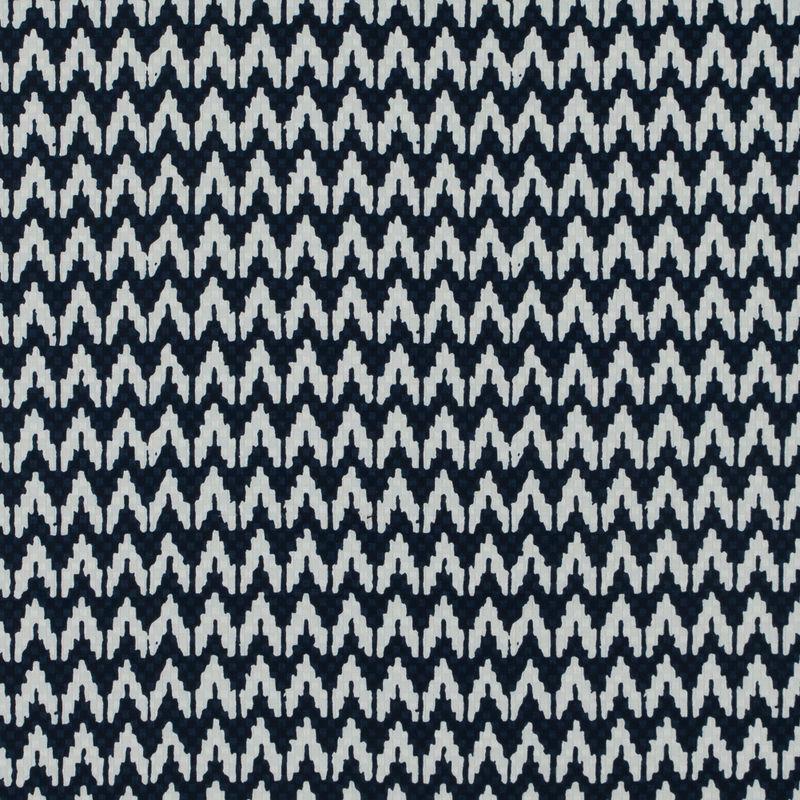 Navy/White Chevron Cotton Dobby Jacquard