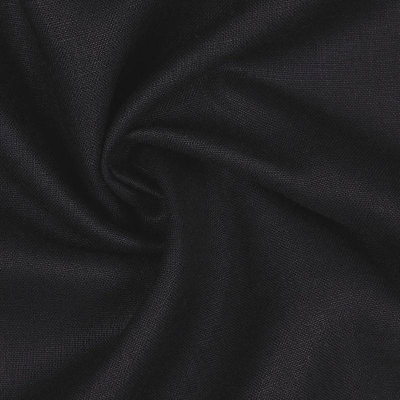 Black Woven Linen Suiting - Detail