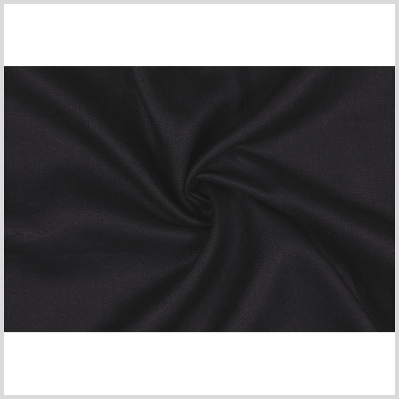 Black Woven Linen Suiting - Full