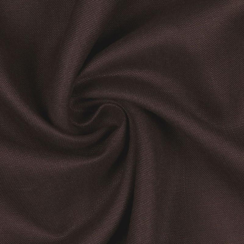 Dark Brown Woven Linen Suiting - Detail