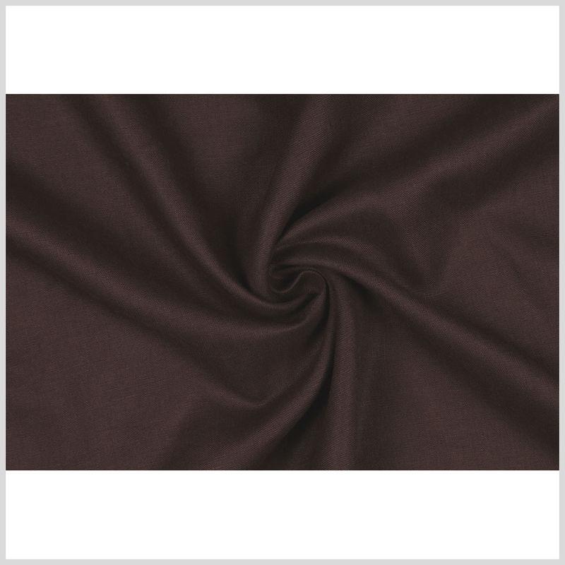Dark Brown Woven Linen Suiting - Full