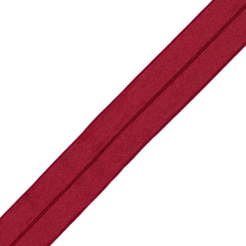 Italian Red Stretch Foldover Elastic - 0.75 - Detail