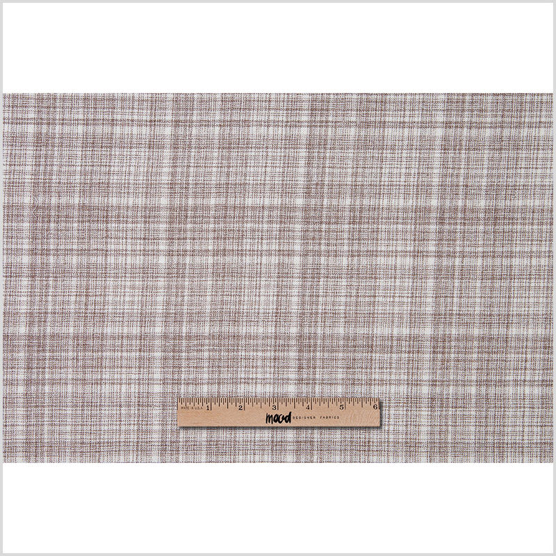 Famous NYC Designer Taupe and White Lightweight Double Cloth Wool - Full